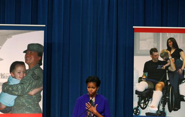 Мишель Обама провела  пресс-конференцию в Министерство труда в Вашингтоне. Фоторепортаж. Фото: Mark Wilson/Getty Images