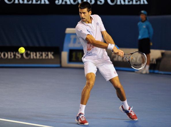 Новак Джокович  победил Рафаэля Надаля  в самом длинном матче в истории  турниров «Большого шлема». Фоторепортаж с Australian Open-2012. Фото: TORSTEN BLACKWOOD/AFP/Getty Images