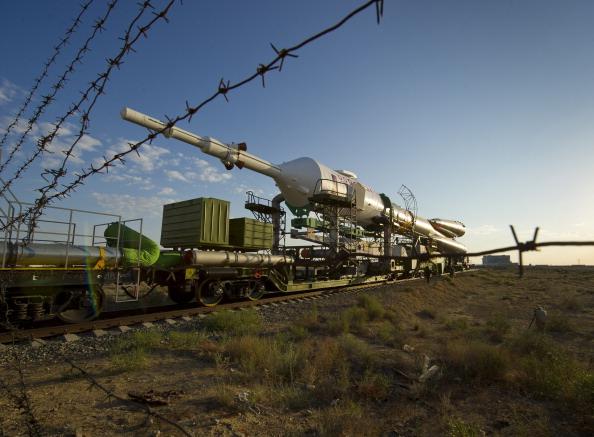 Космический корабль «Союз ТМА-02М» готовится к старту. Фото: NASA/Carla Cioffi via Getty Images