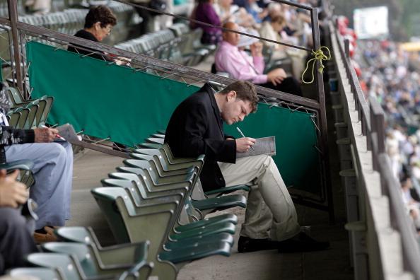 Фоторепортаж со скачек в Белмонт Парке Нью-Йорка. Фото: Nick Laham/Getty Images
