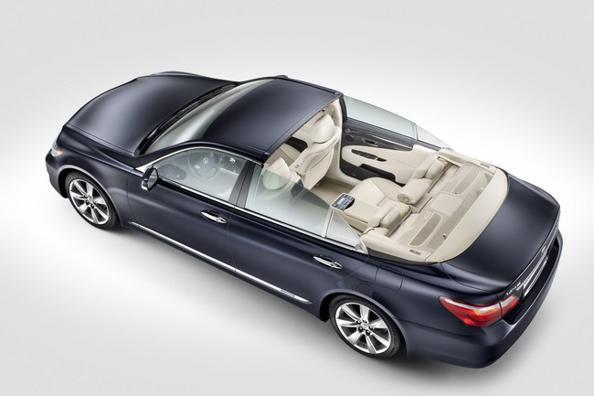 Автомобиль Lexus LS 600h Landaulet создан специально для свадьбы принца Альберта II и Шарлин Уиттсток. Фото с сайта  autoevolution.com: