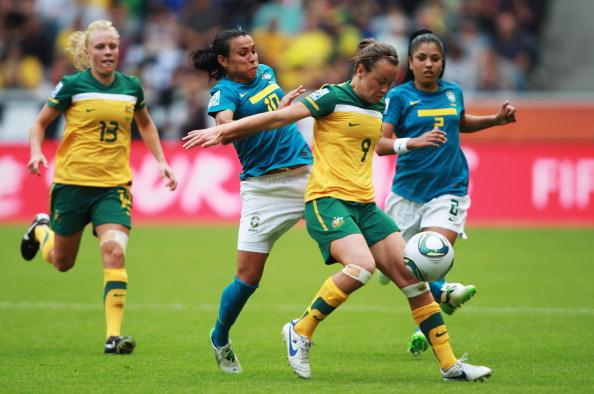 Фоторепортаж с матча: сборная Бразилии выиграла у команды Австралии со счетом 0:1. Фото: Alex Grimm/Bongarts/Getty Images