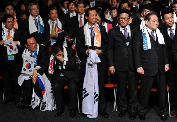 Пхенчхан  выбран  столицей зимних Олимпийских игр-2018. Фоторепортаж о  проведения 123-й сессии МОК в Дурбане 123-й сессии МОК в Дурбане. Фото:  Jasper Juinen/Getty Images