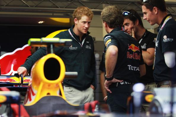 Принц Гарри  на Гран-при Великобритании «Формулы-1». Фото: Jamie McPhilimey - WPA Pool/Getty Images
