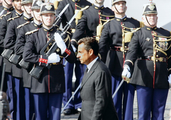 Президент Франции Николя Саркози на параде в честь взятия Бастилии. Фото: Franck Prevel/Getty Images