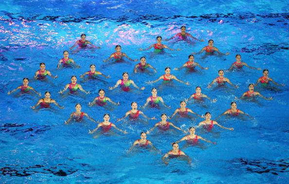 Фоторепортаж с церемонии открытия  чемпионата мира по водным видам спорта-2011 в Шанхае. Фото:  Feng Li/Getty Images