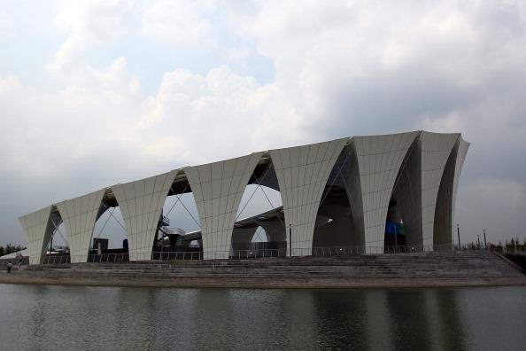 Фоторепортаж о спортивном центре чемпионата мира по водным видам спорта-2011. Фото:  Feng Li/Getty Images