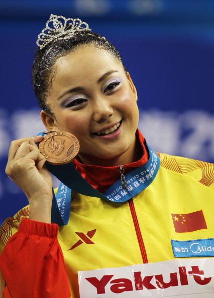 Бронзовая медаль досталась синхронистке из Китая Сунь Вэньянь. Фото:  Ezra Shaw/Getty Images
