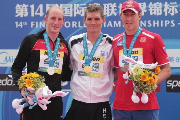 Сергей Большаков завоевал бронзовую медаль в заплыве на 10 км чемпионата мира FINA. Фото: Adam Pretty /Getty Images