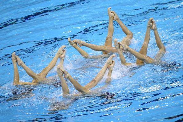 Россиянки  завоевали по синхронному плаванию седьмую рекордную золотую медаль ЧМ-2011. Фото:  Feng Li/ Quinn Rooney /PETER PARKS /FRANCOIS XAVIER MARIT/PHILIPPE LOPEZ /AFP/Getty Images