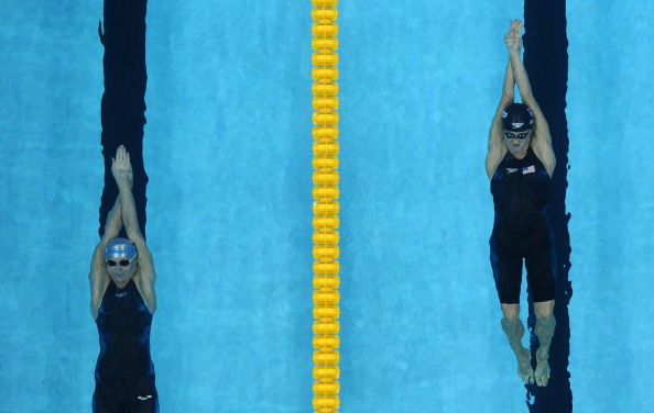 Анастасия Зуева выиграла серебряную медаль по заплыву в стометровке на спине. Фото: PETER PARKS/AFP/Getty Images