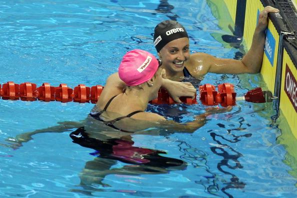 Юлия Ефимова завоевала серебряную медаль  в заплыве на 200 метров брассом на ЧМ в Шанхае. Фото: FRANCOIS XAVIER MARIT/AFP/Getty Images