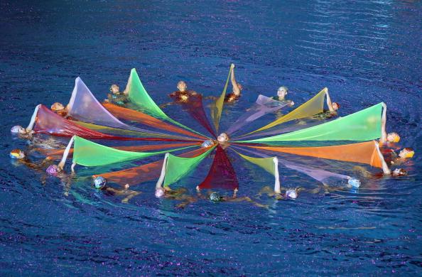 Церемония закрытия  Чемпионата мира по водным видам спорта (ФИНА) в Шанхае. Фото: Feng Li/Getty Images