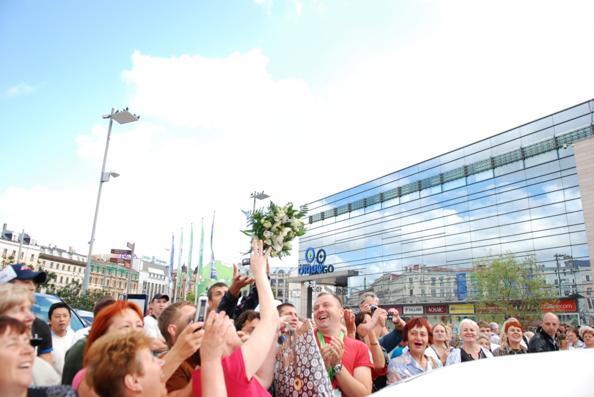 «Новая Волна»: Алла Пугачева прибыла в Ригу.  Фото с сайта mixnews.lv