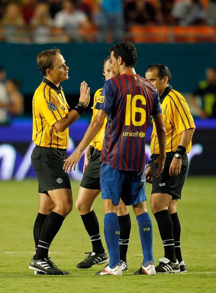 «Барселона» потерпела поражение от команды Гвадалахара со счетом 4:1. Фоторепортаж с матча.  Фото: Mike Ehrmann/Getty Images