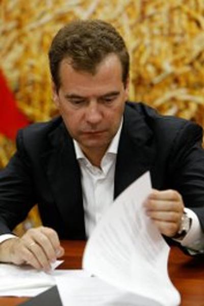 Медведев на Кубани поздравил аграриев с рекордным  «Урожаем-2011». Фото с сайта kremlin.ru
