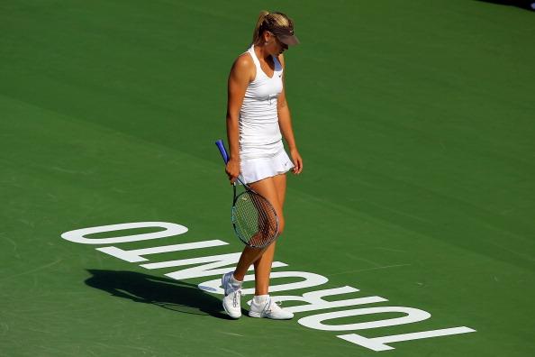 Мария Шарапова не прошла в четвертьфинал турнира Rogers Cup в Торонто. Фото: Chris Trotman/Getty Images