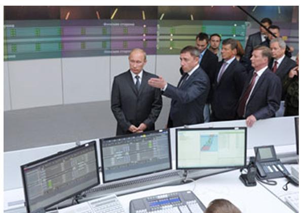 Владимир Путин в Санкт-Петербурге запустил защитные сооружения города от наводнений. Фото с сайта premier.gov.ru
