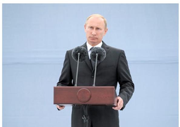 Владимир Путин в Санкт-Петербурге запустил защитные сооружения города от наводнений. Фото: Sasha Mordovets/Getty Images