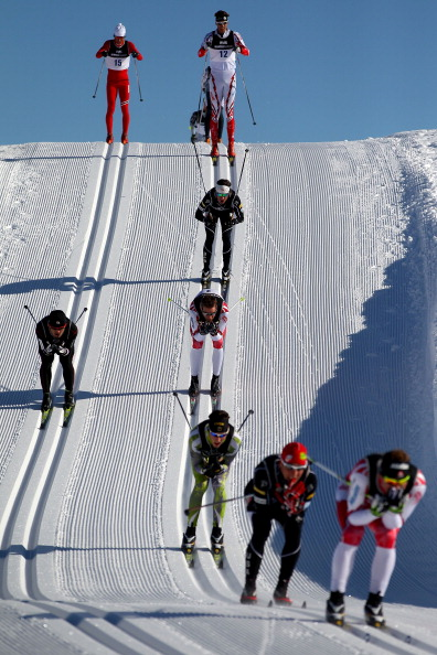Соревнования в масс-старте на лыжне на 10 и 15 км на Зимних играх в Новой Зеландии. Фото: Camilla Stoddart/Getty Images