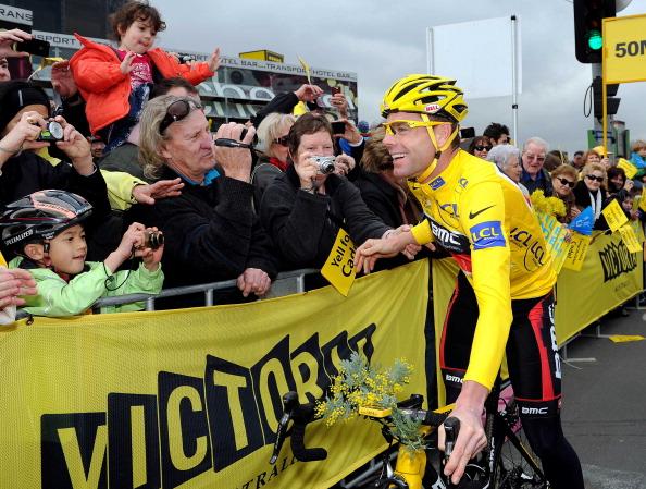 Фоторепортаж  о чемпионе велогонки Tour de France Кэйдел Эвансе. Фото: Quinn Rooney/ Mal Fairclough-Pool/Getty Images