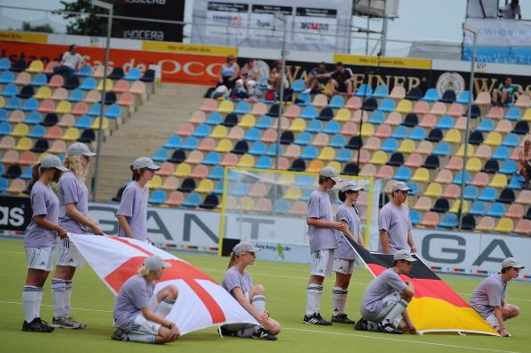 Фоторепортаж  с  матча между сборными  Германии и Англии по хоккею на траве. Фото: Dennis Grombkowski/Bongarts/Getty Images