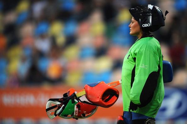Фоторепортаж  с  матча между женскими сборными  Нидерландов  и Италии  по хоккею на траве. Фото: Dennis Grombkowski/Bongarts/Getty Images
