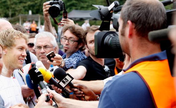 Шумахер и Веттель  отпраздновали 50-летний юбилей картинг клуба в Керпене. Фото: Friedemann Vogel/Bongarts/Getty Images