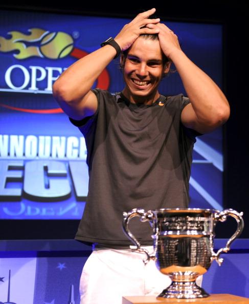 Фоторепортаж  о подготовке  к  теннисному турниру U.S. Open. Rafael Nadal. Фото: Wickerham / TIMOTHY A. CLARY/AFP/ Getty Images для USTA