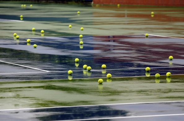 Фоторепортаж  о подготовке  к  теннисному турниру U.S. Open. Фото: Wickerham / TIMOTHY A. CLARY/AFP/ Getty Images для USTA
