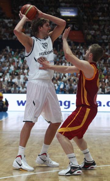 Сборная Германии по баскетболу победила команду Македонии. Фоторепортаж с матча. Фото: Alexandra Beier/Bongarts/Getty Images