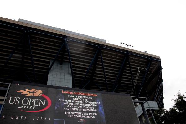 На теннисных кортах Billie Jean King National готовы к встрече с ураганом «Айрин». Фото: Patrick McDermott/Getty Images