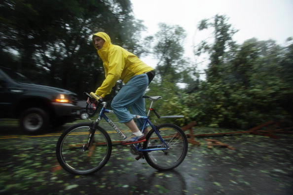 Ураган «Айрин» понизился до тропического шторма. Фоторепортаж из Нью-Йорка. Фото: Mario Tama /STAN HONDA/AFP/Getty Images