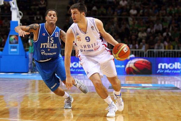 Сборная Сербии  выиграла у Италии первую игру  EuroBasket 2011. Фоторепортаж  с матча. Фото: Christof Koepsel/Bongarts/Getty Images