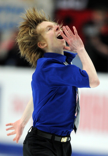 ЧМ по фигурному катанию.  Мужская короткая программа.  Фото:  ALEXANDER NEMENOV/YURI KADOBNOV/AFP/Getty Images