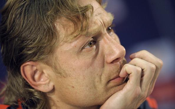 Валерий Карпов  во время тренировок и предпоследней игры