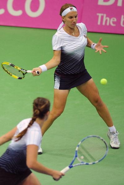 В финальном  матче Кубка Федерации российские теннисистки сыграют с командой Чехии.Фото: ALEXANDER NEMENOV/AFP/Getty Images