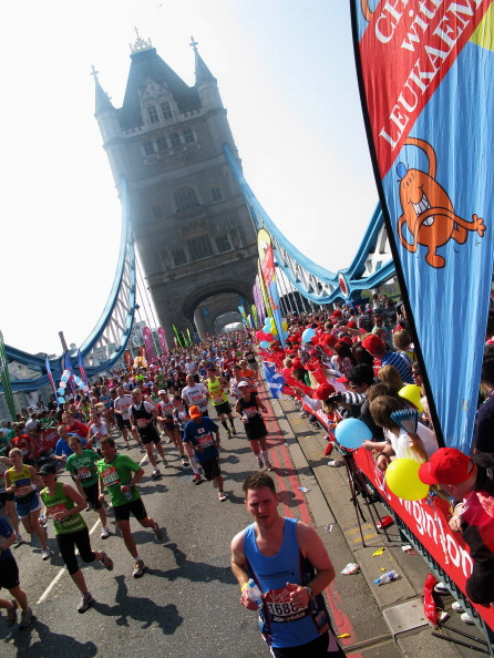 Лондонский марафон Virgin-2011. Фото: Christopher Lee/Warren Little/Oli Scarff/Dean Mouhtaropoulos/Getty Images