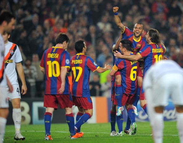 «Барселона»  разгромила  «Шахтера» со счетом  5:1 в матче 1/4 финала Лиги чемпионов. Фоторепортаж.  Фото: LLUIS GENE, JOSEP LAGO, DAVID RAMOS, JASPER JUINEN/AFP/Getty Images