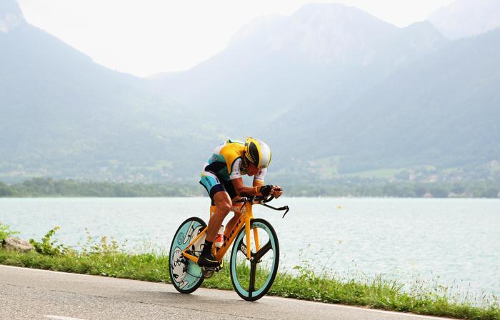 Лэнс Армстронг на гонке «Тур де Франс» 23 июля 2009 года. Фото: Bryn Lennon/Getty Images