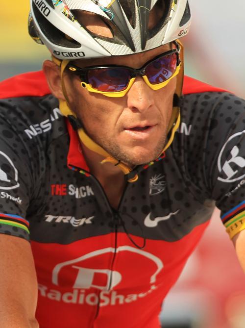 Лэнс Армстронг на гонке «Тур де Франс» 13 июля 2010 года. Фото: Spencer Platt / Getty Images
