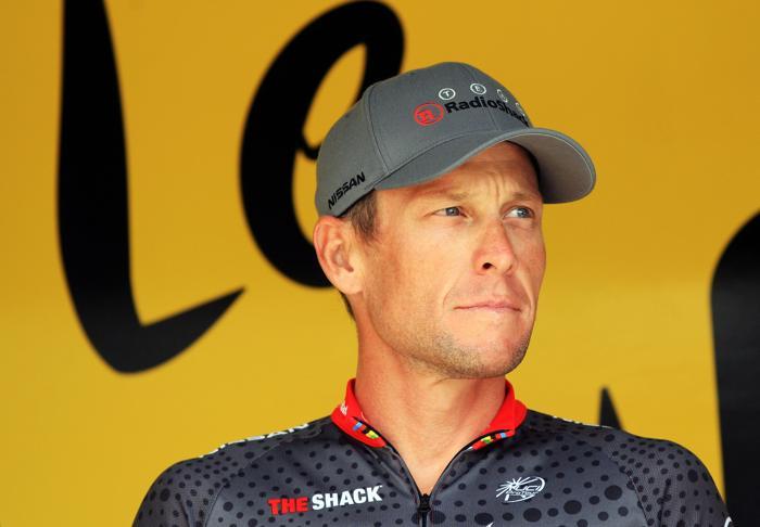 Лэнс Армстронг на гонке «Тур де Франс» 17 июля 2010 года. Фото: Bryn Lennon/Getty Images