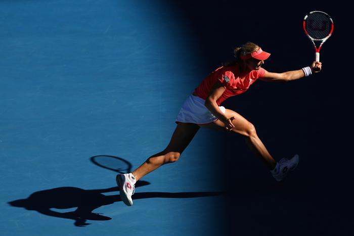 Встреча Марии Шараповой и Екатерины Кузьминой в ј финала Australian Open, Мельбурн, Австралия.  Фото: Cameron Spencer/Getty Images