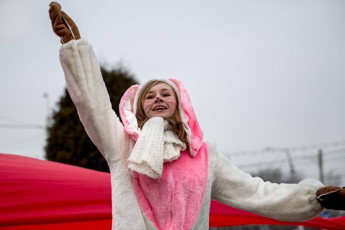 Молодёжный танцевальный флэш-моб «Навстречу Сочи» в Рязани. Фото: Сергей Лучезарный/Великая Эпоха (The Epoch Times)