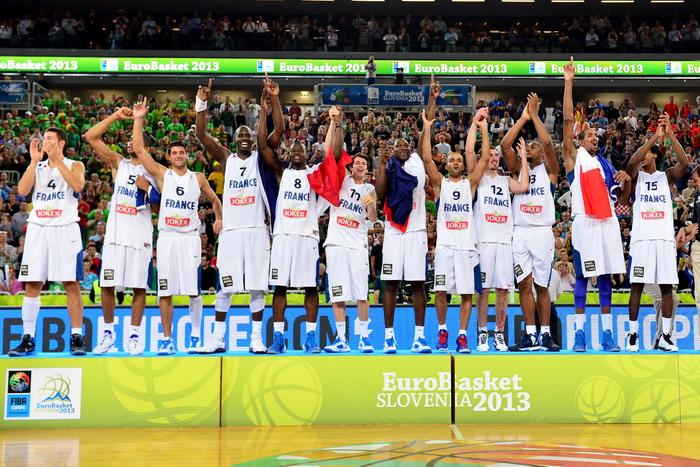 Мужской чемпионат Европы по баскетболу впервые в истории выиграла сборная Франции. Фото: Jure Makovec/AFP/Getty Images