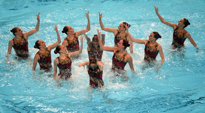 Российские синхронистки одержали победу в седьмой раз. Фото: JAVIER SORIANO/AFP/Getty Images