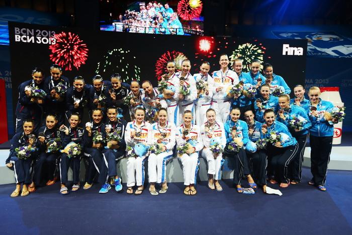 Российские синхронистки одержали победу в седьмой раз. Фото: Quinn Rooney/Getty Images