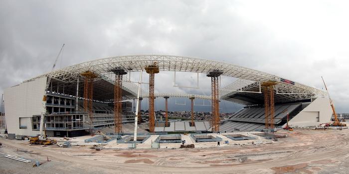 Разрушенный в Бразилии стадион восстановят к открытию ЧМ. Фото: Friedemann Vogel/Getty Images