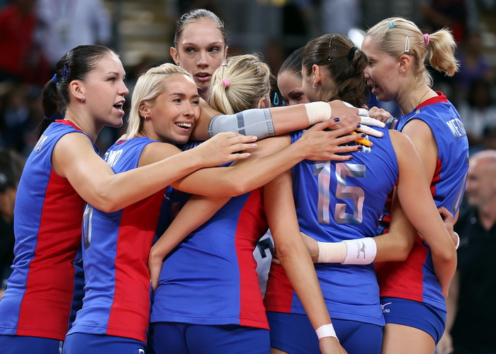 Российские волейболистки вышли в третий раунд Кубка Ельцина. Фото: Elsa/Getty Images