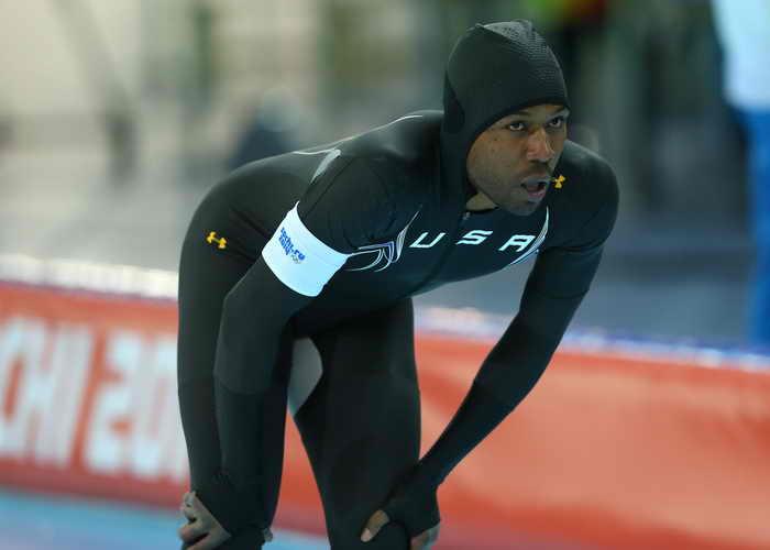 Американский конькобежец Шани Дэвис. Фото: Quinn Rooney/Getty Images